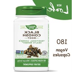 BLACK COHOSH ROOT 540 mg Menopause Relief Support Supplement