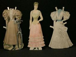 Boston Herald Sunday Supplement Paper Doll W/ 6 Outfits 1895