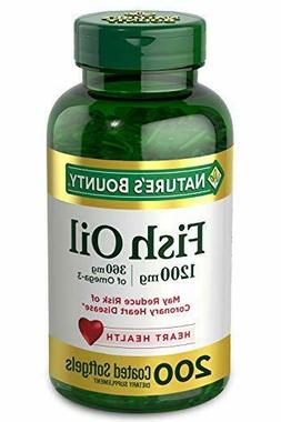 Fish Oil by Nature's Bounty, Dietary Supplement, 200 Count