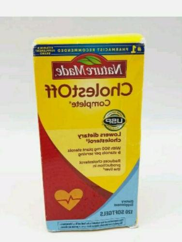cholestoff complete 120 softgels dietary supplements exp