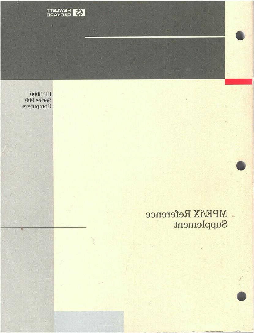 mpe ix reference supplement part no 32650