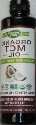 Nature's Way Organic MCT Oil Dietary Supplement - 16 oz / 48