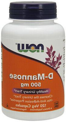 NOW Supplements D-Mannose 500 mg - 120 Veg Capsules