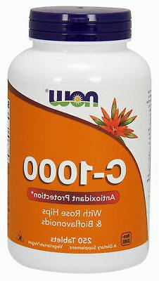 NOW Supplements Vitamin C-1000 - 250 Tablets