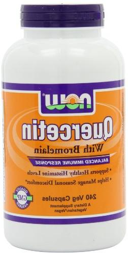 Now Foods Quercetin with Bromelain, Veg-Capsules, 240 Count