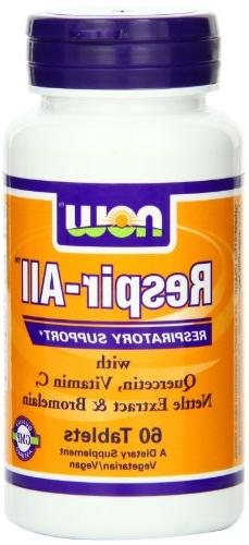 Now Foods Respir-All , 60 Tablets