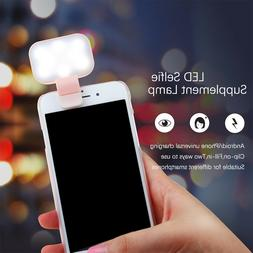 LED Selfie Supplement Light USB Chargeable ClipOn Fill in Ca