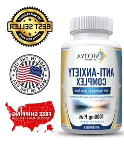 Natural Anti Anxiety & Stress Relief Supplement Pills