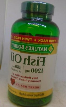 Nature's Bounty Fish Oil 1200 mg 180 Rapid Release Softgels