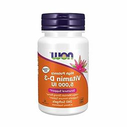NOW Foods Supplements, Vitamin D-3 5,000 IU, Structural Supp