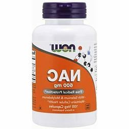 NOW Supplements, NAC 600 Mg With Selenium &amp Molybdenum,