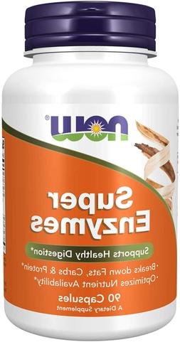 NOW Supplements, Super Enzymes, Formulated with Bromelain, O