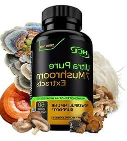 HCL HERBAL CODE LABS Organic Mushroom Supplement Extracts -