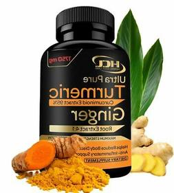 HCL HERBAL CODE LABS Turmeric & Ginger Supplement 1750mg Ext